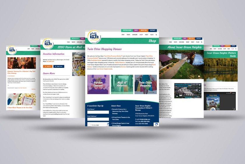 Inver Grove Heights Convention & Visitors Bureau Website Design & Development