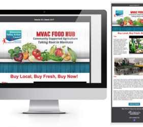 MVAC Food Hub Enews Mockup