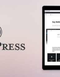 WordPress version 5.0 with Gutenberg Editor.