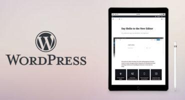 WordPress version 5.0 with Gutenberg Editor.
