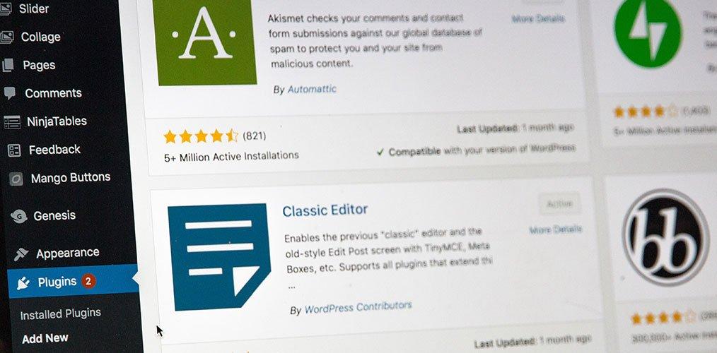 WordPress maintenance: plugin updates