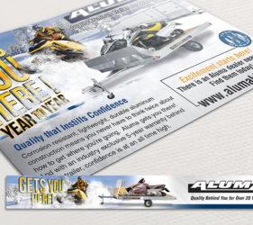 Aluma Snow Print Web Ad