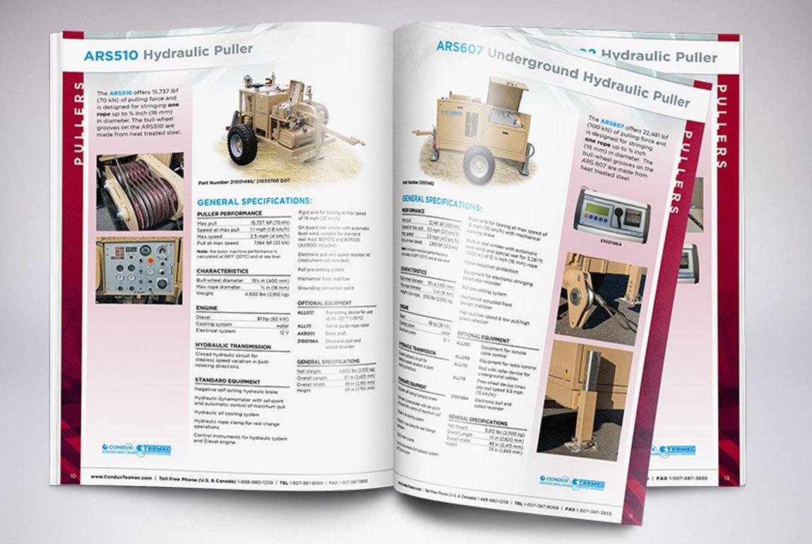 Condux Tesmec Catalog Inside Spreads