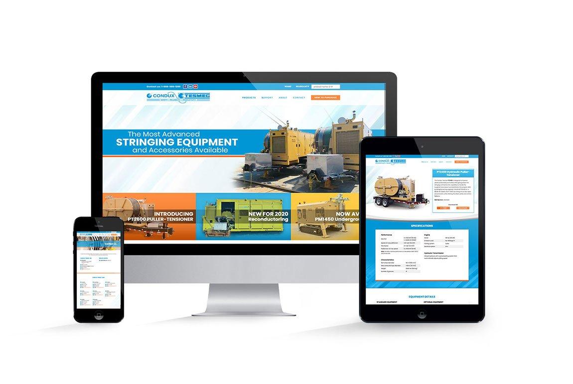 Condux Tesmec Website