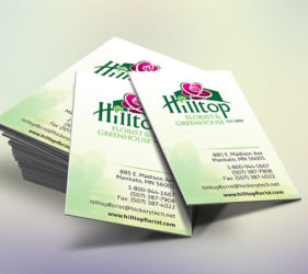 Hilltop Florist Business Cards
