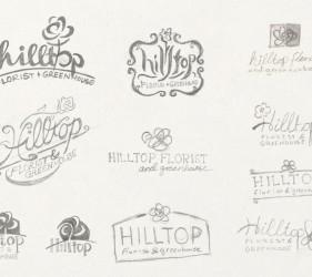 Hilltop Florist Sketches