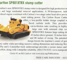 J.P. Carlton Stump Cutter Editorial