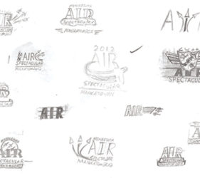 MN Air Show Logo Sketches