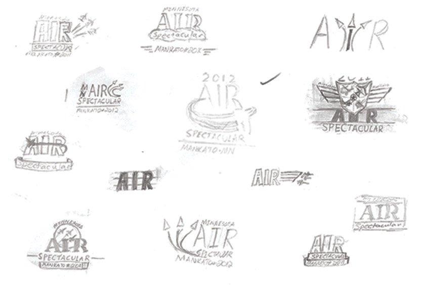 MN Air Show Logo Sketches