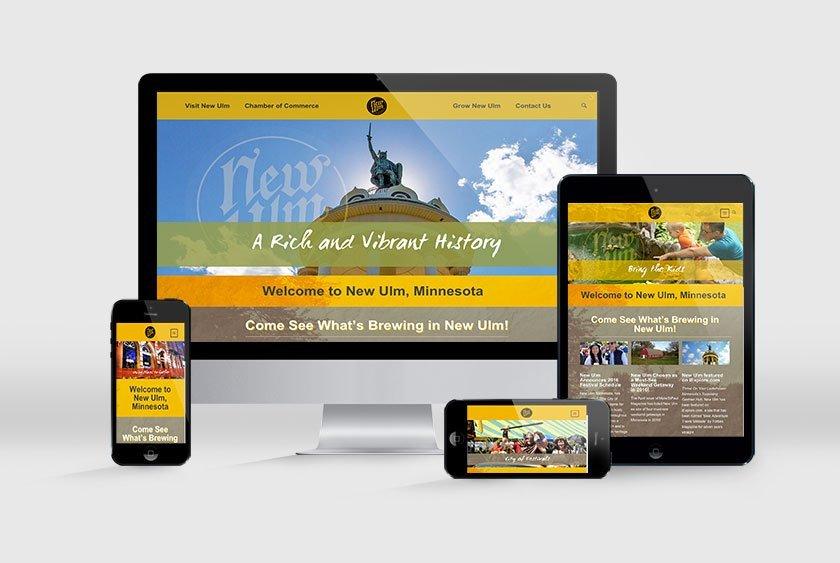 New Ulm Website Responsive LVAI Portfolio