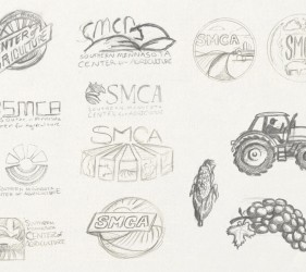 Logo design sketching phase